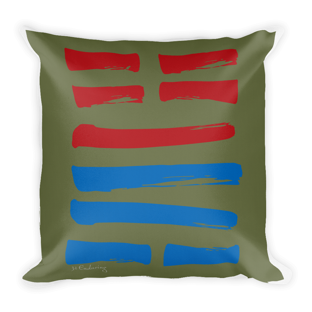 32 Continuing Hexagram Throw Pillow