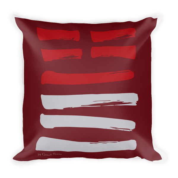 34 Great Power Hexagram Throw Pillow