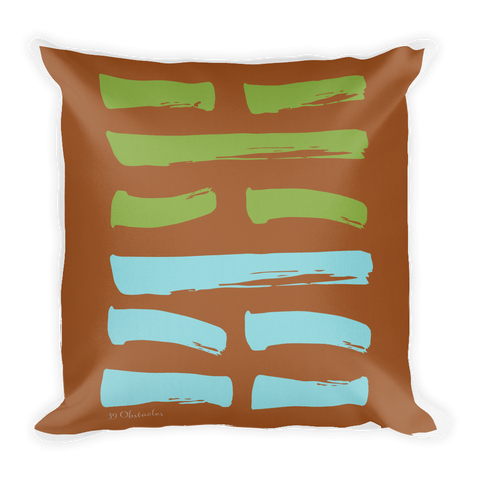 39 Obstacles Hexagram Throw Pillow