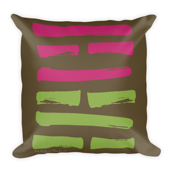 64 Before the End Hexagram Throw Pillow