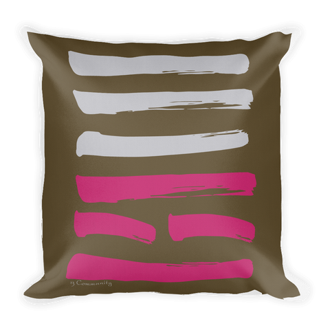 13 Community Hexagram Throw Pillow