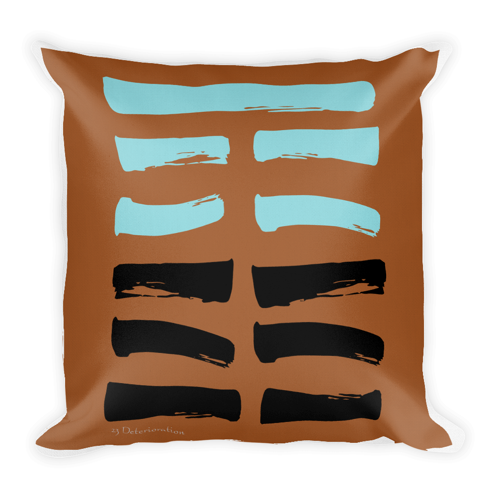23 Deterioration Hexagram Throw Pillow