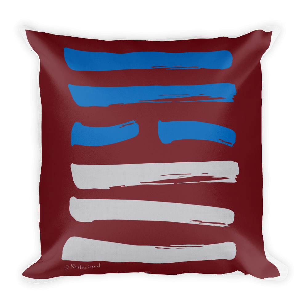 09 Restrained Hexagram Throw Pillow