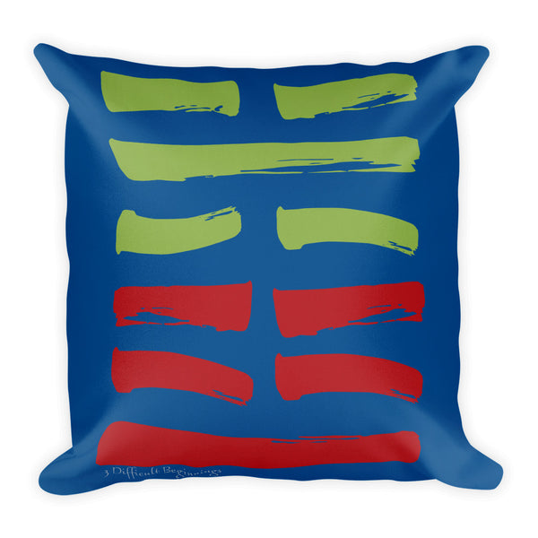 03 Difficult Beginnings Hexagram Throw Pillow