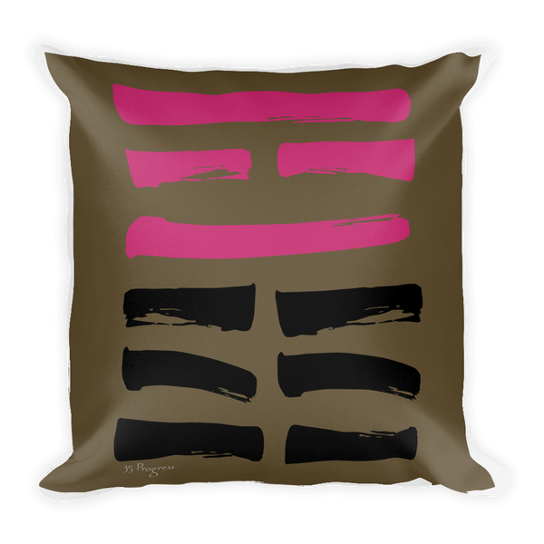 35 Progress Hexagram Throw Pillow