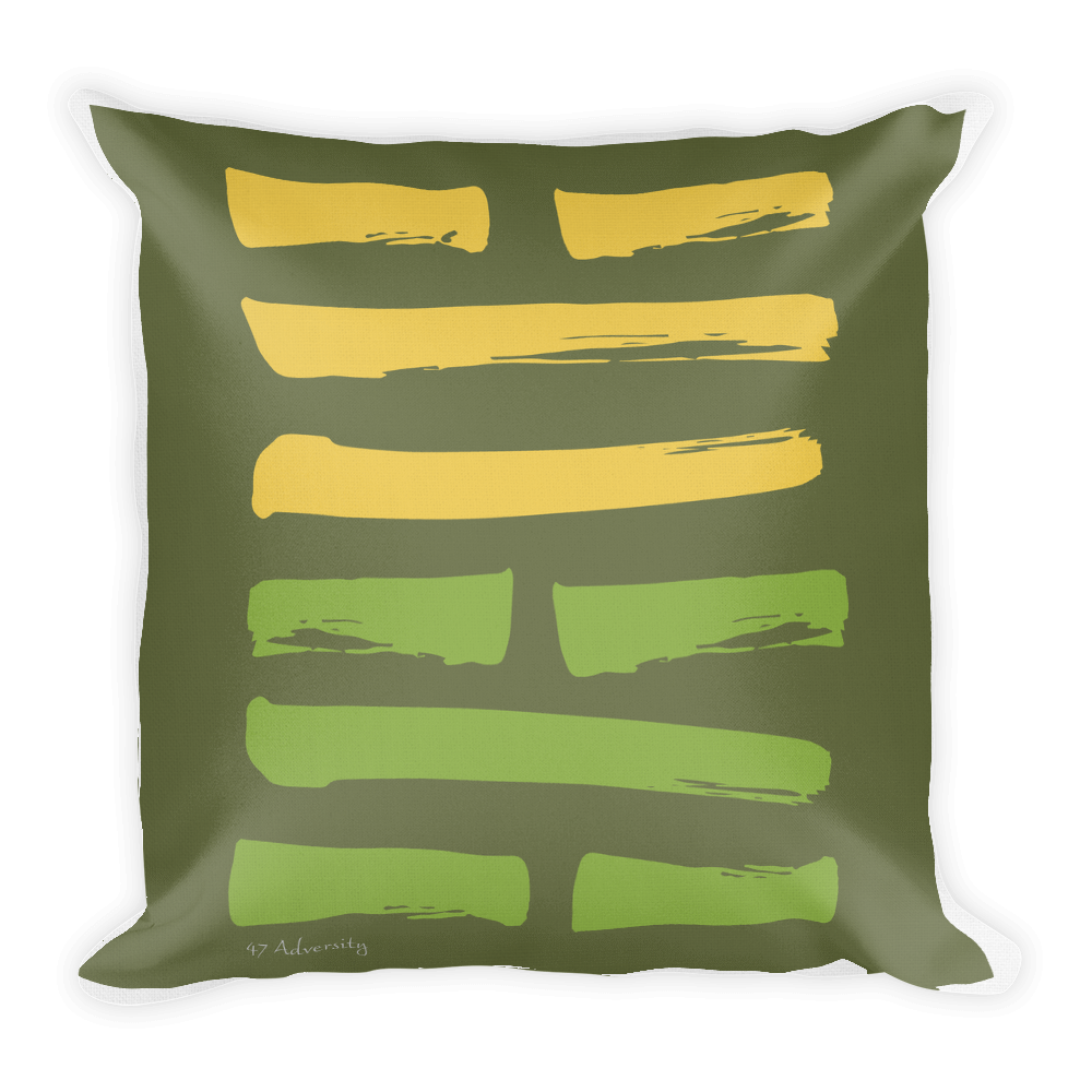 47 Adversity Hexagram Throw Pillow