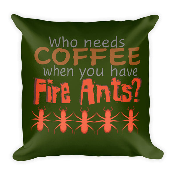 Coffee vs. Fire Ants on a Premium Pillow