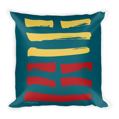 17 Adapting Hexagram Throw Pillow