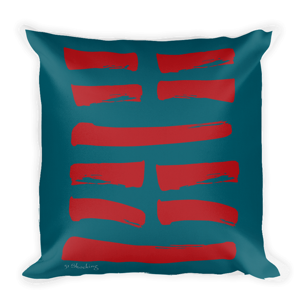 51 Shocking Hexagram Throw Pillow