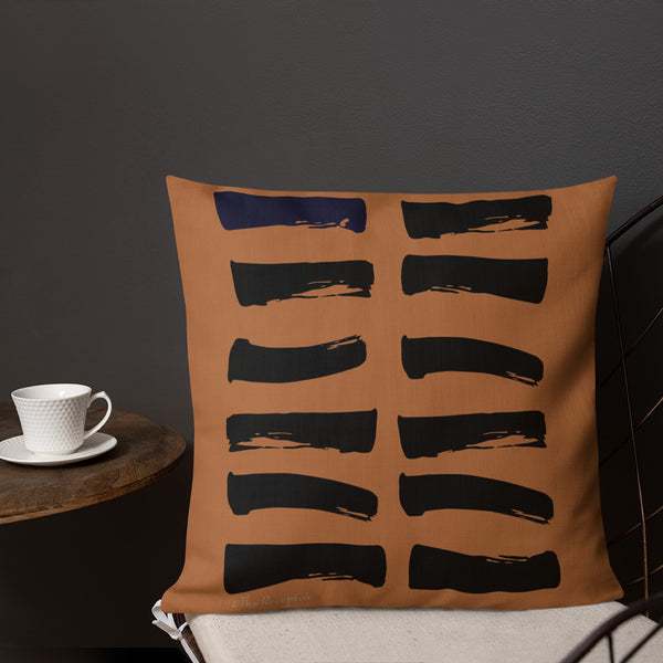 02 The Receptive Hexagram Throw Pillow