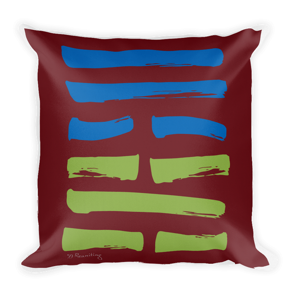59 Reuniting Hexagram Throw Pillow