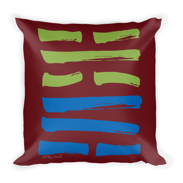 48 The Well Hexagram Throw Pillow