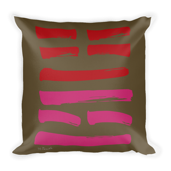 55 Zenith Hexagram Throw Pillow