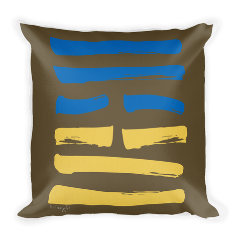 61 Insight Hexagram Throw Pillow