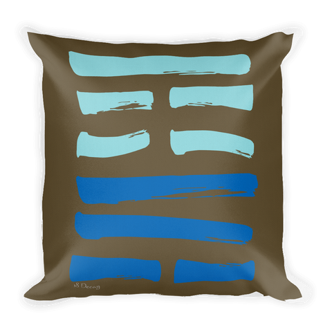 18 Repair Hexagram Throw Pillow