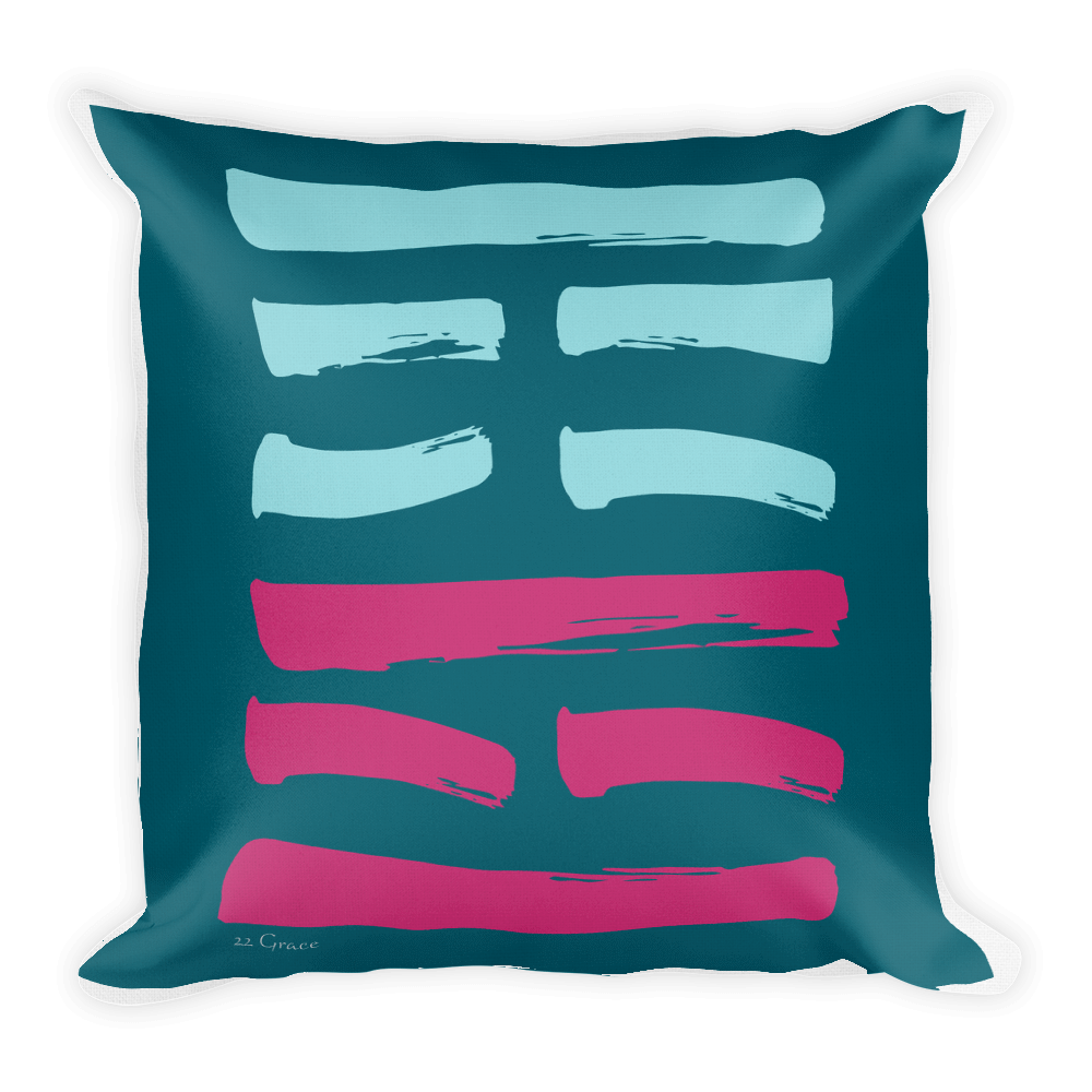 22 Grace Hexagram Throw Pillow