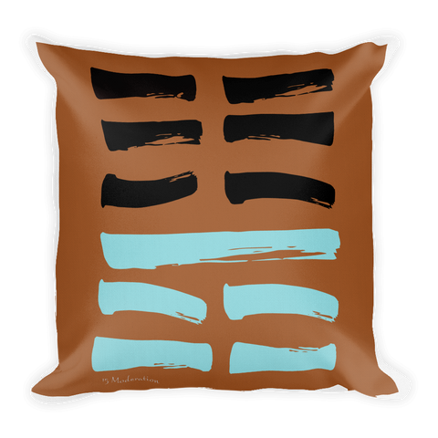 15 Moderation Hexagram Throw Pillow