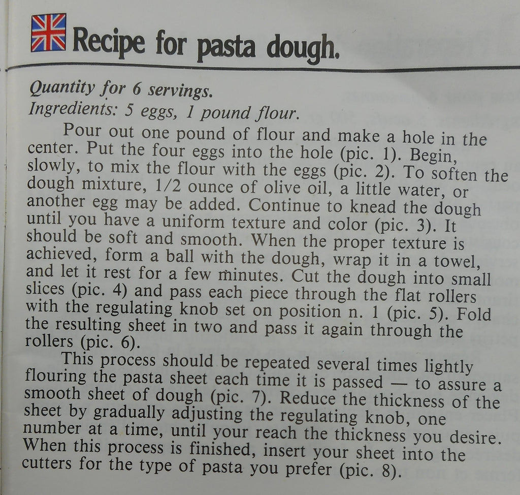 Dough Recipe - Marcato Atlas Pasta Makers