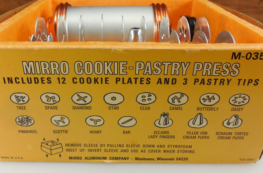 Mirro Cookie- Pastry Press Plate & Tip Guide Reference