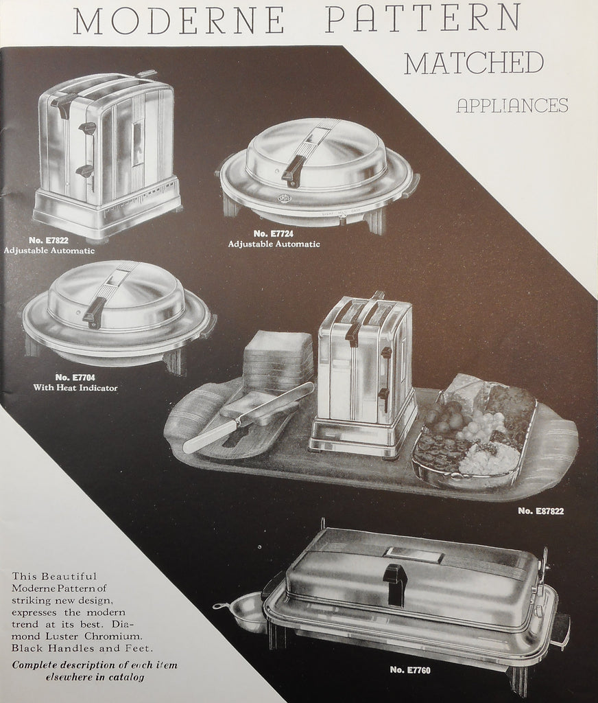 1937 Moderne Univeral Electric Appliance Pattern for Landers Frary & Clark