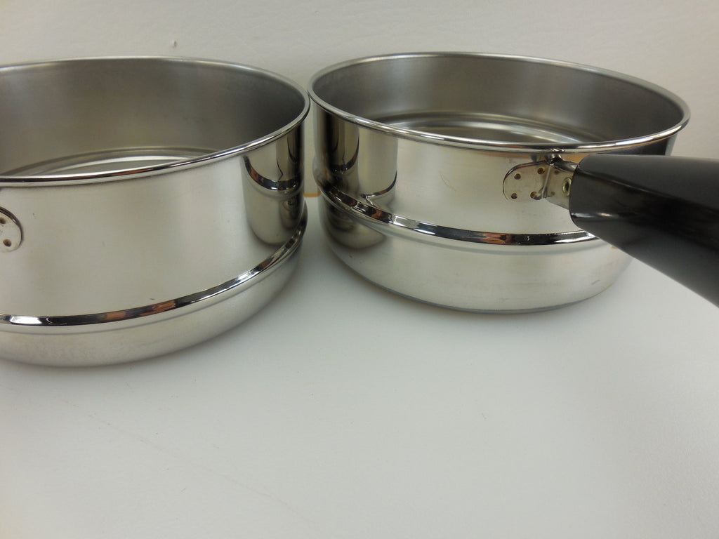 Revere Ware Cookware Double Boiler Inserts Depths - Two Sizes