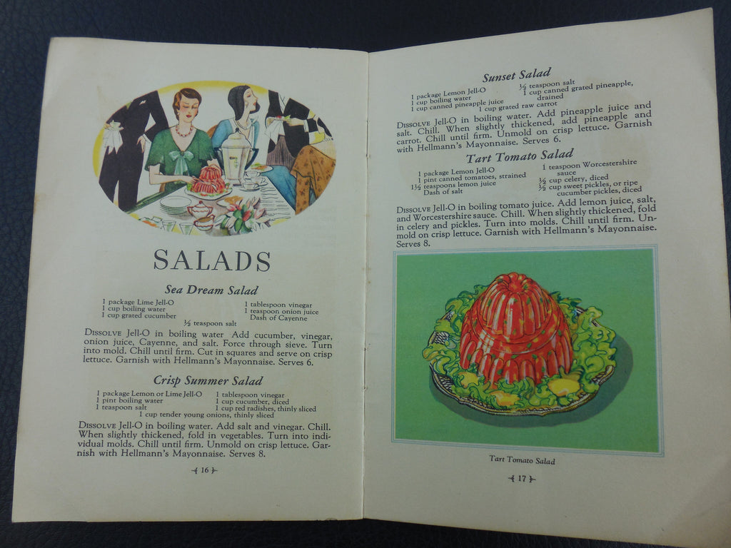"1930 Jell-O Booklet Recipe For... ""Tart Tomato Salad"""
