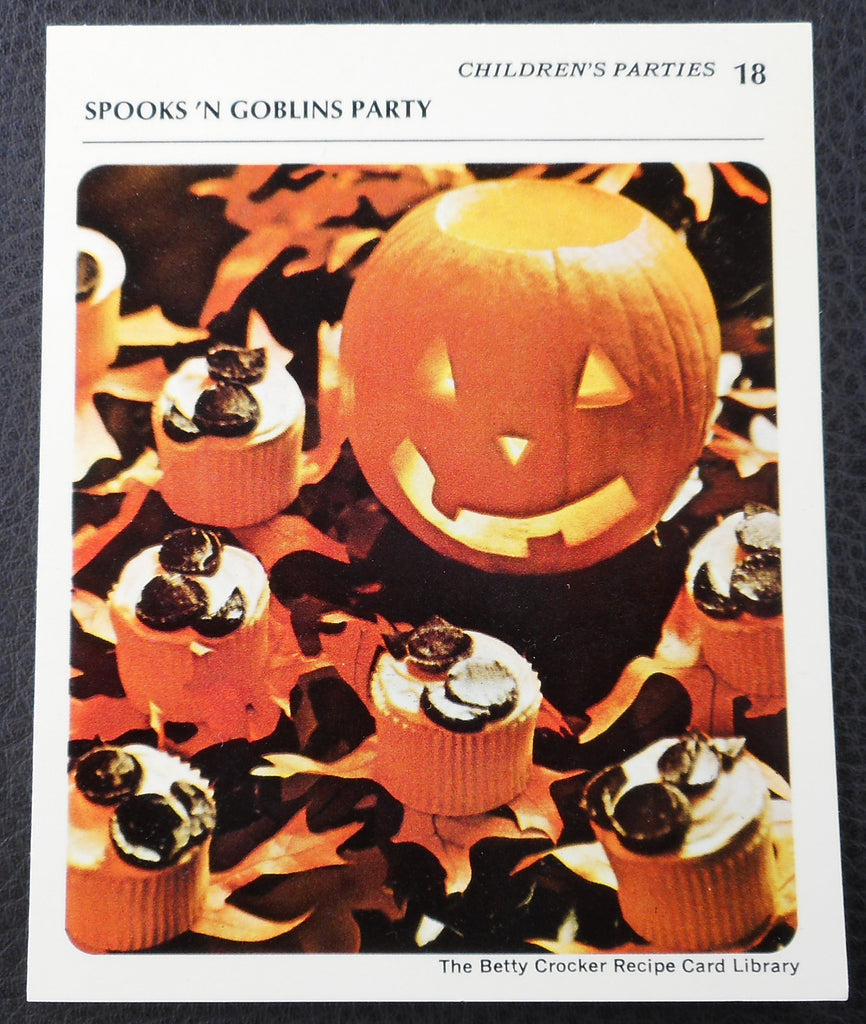 1971 Betty Crocker Recipe Card - Spooks 'N Goblins Party