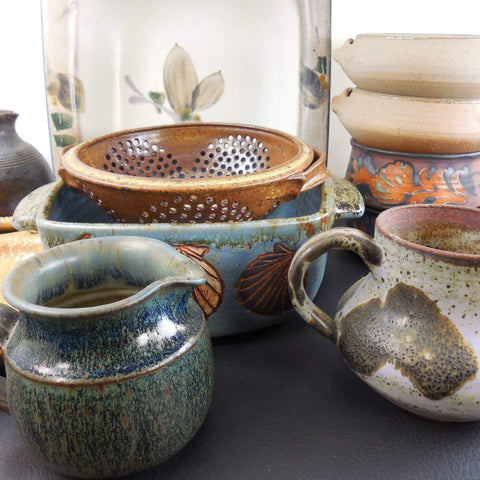 shop buy vintage  art studio pottery for table & kitchen for sale