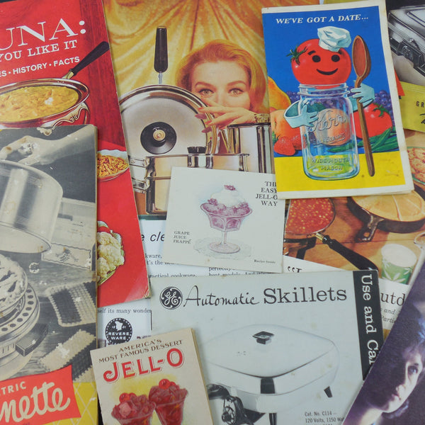shop buy vintage kitchen cookware ephemera advertisements manuals recipes books booklets for sale