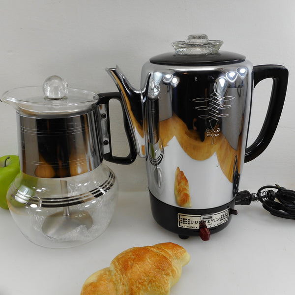 Vintage coffee & tea related items - coffee makers, percolators, tea kettles, etc.