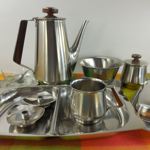 shop buy vintage stainless steel mid century modern metal serving pieces for sale