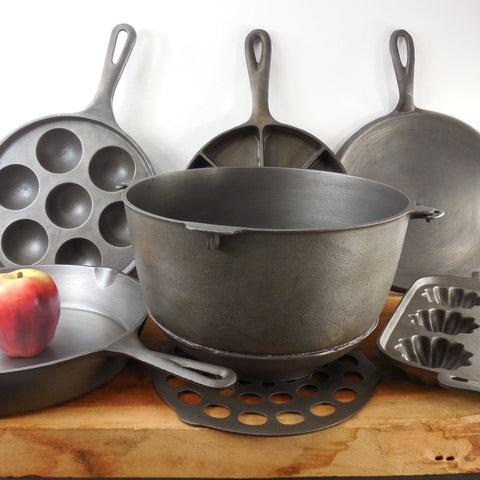 shop buy vintage antique cast iron cookware skillets for sale