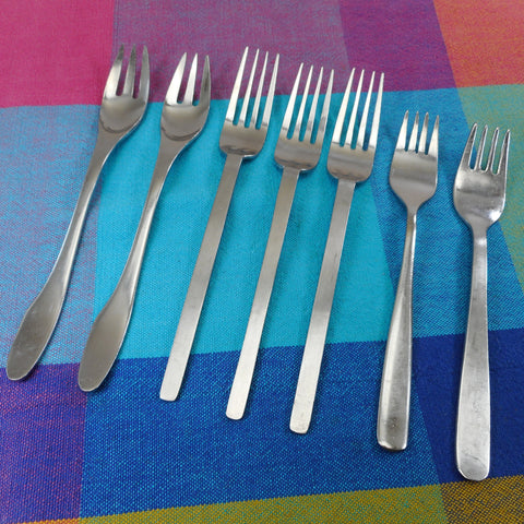 Airline Flatware Lot of 7 Forks - Vintage American Airlines, British Airways and ?