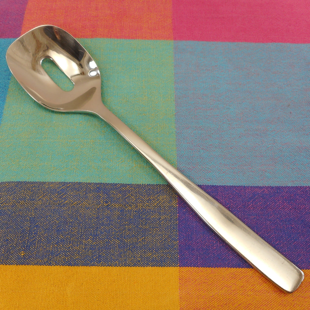 Alessi Italy Knifeforkspoon Stainless Slotted Serving Spoon