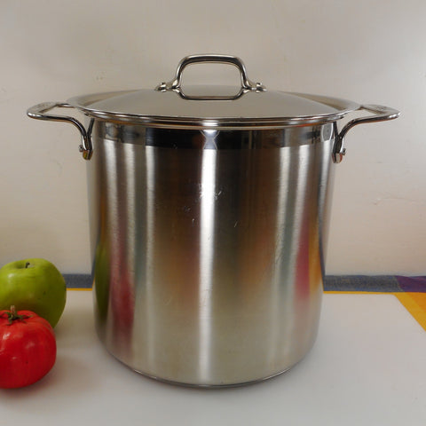 All-Clad USA 12 Quart Stock Pot wt Lid - Brushed Stainless Steel