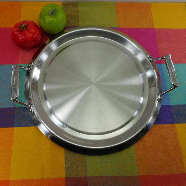 "All-Clad Triply Stainless 12"" Round Griddle Double Handle"
