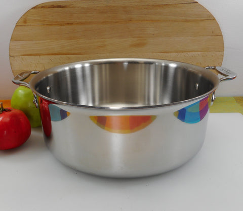 All-Clad USA Tri-Ply Stainless 6 Quart Stock Soup Pot - No Lid