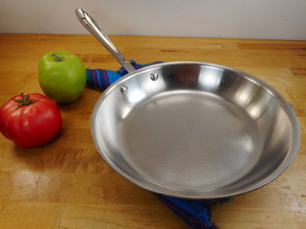 "All-Clad Stainless Tri-Ply Cookware 10.5"" Skillet Fry Pan Used - Factory Second"