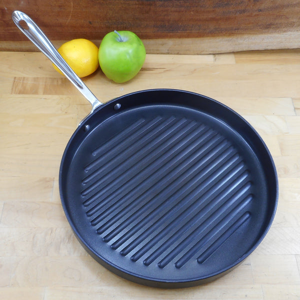 "All-Clad 12"" Round Grill Pan Non-stick Anodized Aluminum"