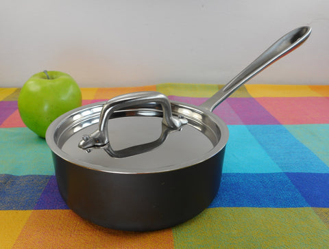 All-Clad LTD Stainless 1 Quart Sauce Pan with Lid - Used