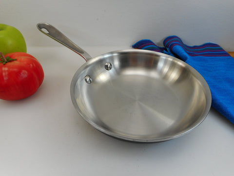 "All-Clad LTD Stainless Cookware 7.5"" Skillet Fry Pan Used"