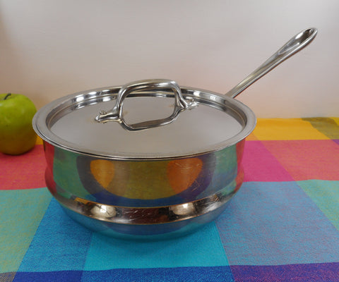 "All-Clad USA Stainless Steel 8"" Steamer Insert with Lid - 3 Quart for Saucepans"