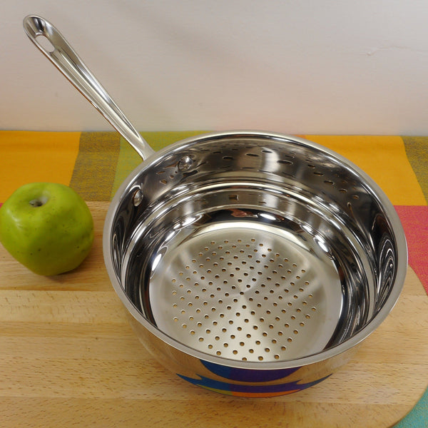 "All-Clad USA Stainless 8-1/2"" Steamer Insert for 8"" Saucepan Used"