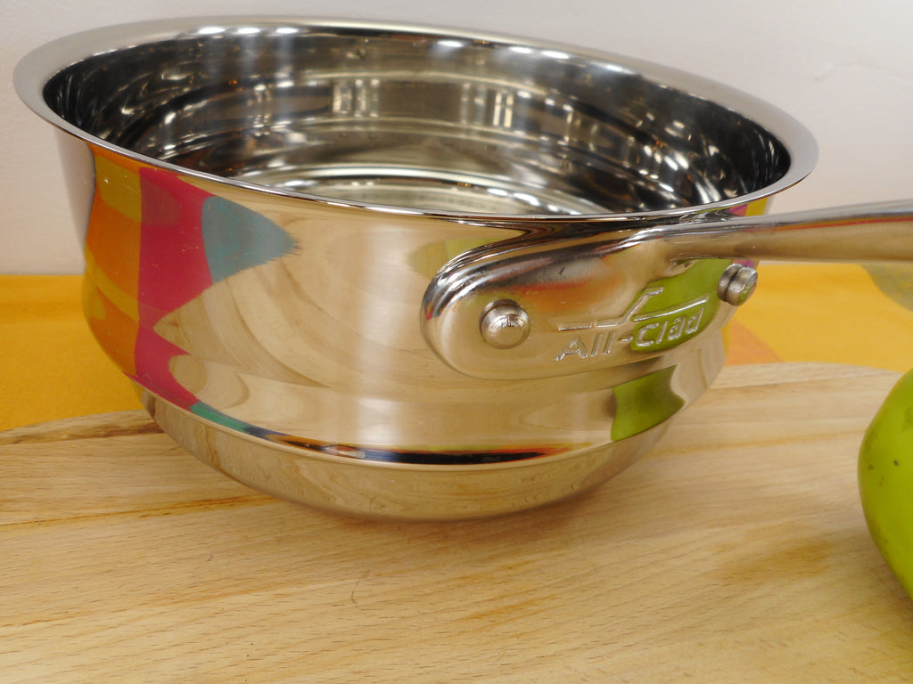 "All-Clad USA Stainless 8-1/2"" Steamer Insert for 8"" Saucepan Used Single Handle"