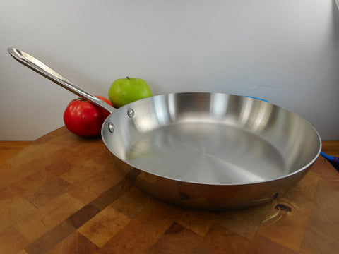"All-Clad Used Stainless Cookware 11"" Skillet Fry Pan Tri-Ply"