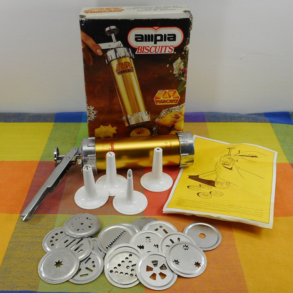 Marcato Ampia Atlas Italy Hand Spritz Cookie Biscuit Press Set Boxed