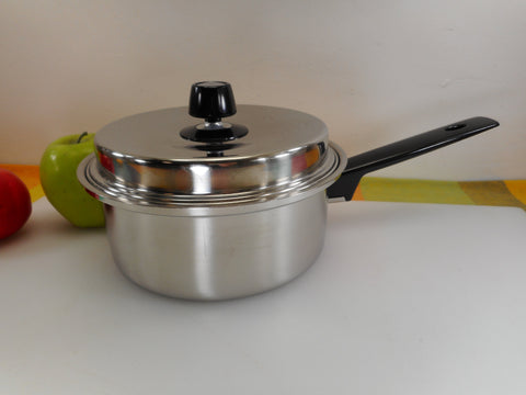 Amway Royal USA Stainless Cookware - 2 Quart Saucepan with Double Boiler Insert