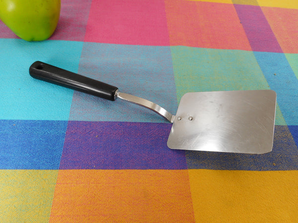"Androck USA Kitchen Utensil - Small Short 10"" Spatula Stainless Black Handle"