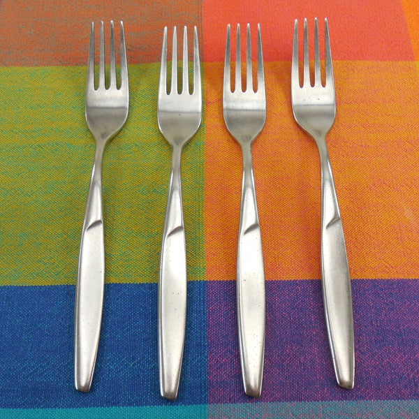 Gustav Sweden ANITA - Stainless Flatware - 4 Dinner Forks 7-1/4""