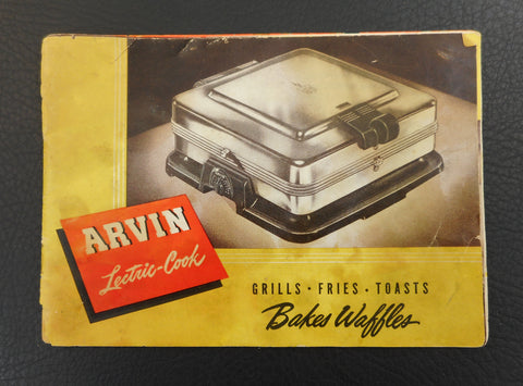 Arvin Lectric-Cook Waffle Baker Grill Appliance Booklet Manual 3500